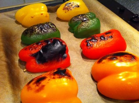 gegrilde paprika's